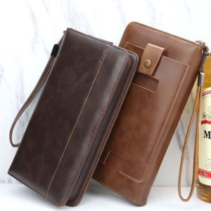 Luxury Zipper Wallet (Card Holder With Phone Pocket).